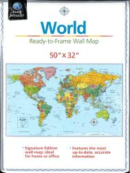 World, Ready-to-Frame Wall Map Signature Edition by Rand McNally