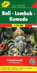 Bali, Lombok and Komodo, Indonesia Road Map by Freytag, Berndt und Artaria