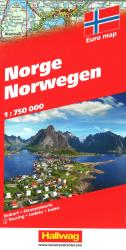 Norway Road Map by Hallwag