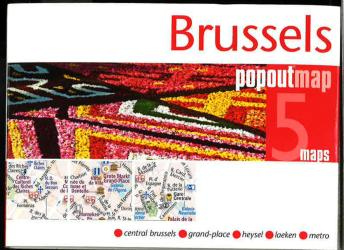 Brussels, Belgium, PopOut Map by PopOut Products