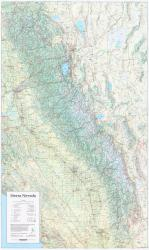 Sierra Nevada, California and Nevada, laminated by Imus Geographics