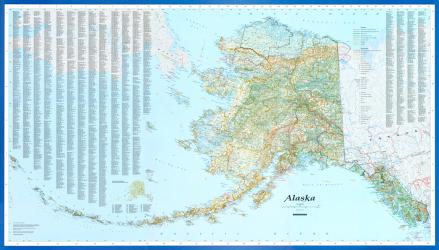 Alaska Wall Map by Imus Geographics