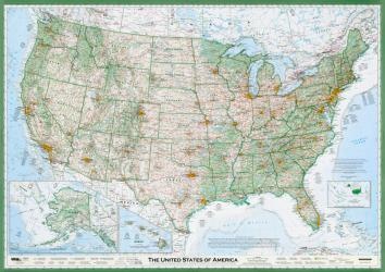 United States of America, The Essential Geography of the, laminated by Imus Geographics