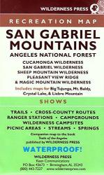 San Gabriel Mountains and Angeles National Forest, California Trails Recreation Map by Wilderness Press