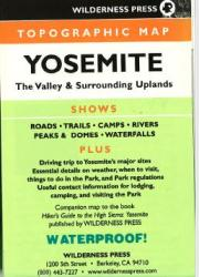 Yosemite, California Topo Quad by Wilderness Press