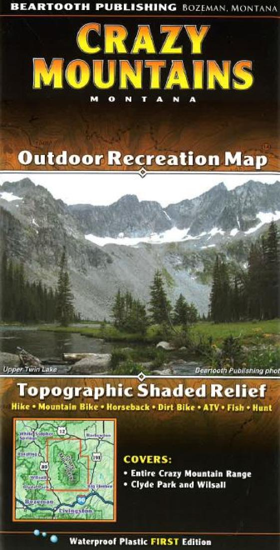 Crazy Mountains trail map