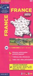 France, Roads and Motorways by Institut Geographique National