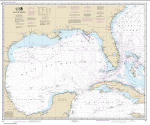 Gulf of Mexico Nautical Chart (411) by NOAA