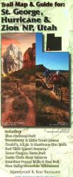 St. George, Hurricane, and Zion National Park, Utah, Trail Map and Guide by Adventure Maps