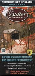 Northern New England, Butler Motorcyle Map G1 by Butler Motorcycle Maps