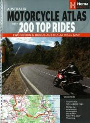 Australia, Motorcycle Atlas Pack (2 books + 1 wall map) by Hema Maps