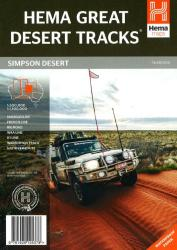 Simpson Desert, Great Desert Tracks, 7th edition by Hema Maps