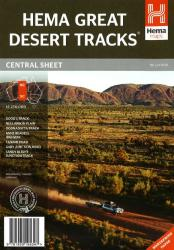 Australia, Central Sheet, Great Desert Tracks, 7th edition by Hema Maps