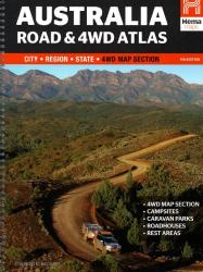 Australia, Easy Read Road and 4WD Atlas by Hema Maps
