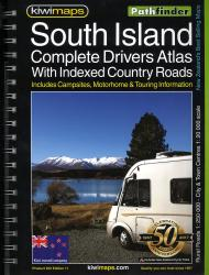 South Island Rural Roads, New Zealand, Atlas by Kiwi Maps