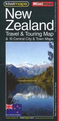 New Zealand, Touring and 10 Towns, Minimap by Kiwi Maps