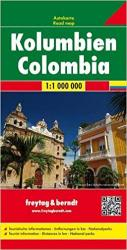 Colombia Road Map by Freytag, Berndt und Artaria