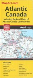 Atlantic Canada Road Map by Canadian Cartographics Corporation