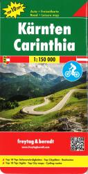 Carinthia, Road, Cycling and Leisure by Freytag, Berndt und Artaria