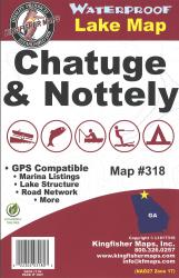 Chatuge & Nottely Lakes & Hiwassee Reservoir fishing map by Kingfisher Maps, Inc.