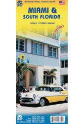 Miami and South Florida Road Map by International Travel Maps
