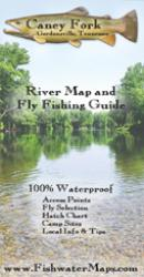 Caney River TN River Map and Fly Fishing Guide by Fishwater Maps