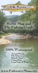 Elk River WV River Map and Fly Fishing Guide by Fishwater Maps