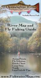 Oconaluftee River NC River Map and Fly Fishing Guide by Fishwater Maps