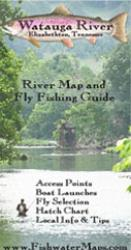 Watauga River TN River Map and Fly Fishing Guide by Fishwater Maps