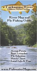 Tuckasegee River NC River Map and Fly Fishing Guide by Fishwater Maps