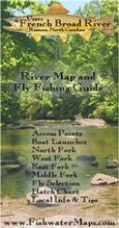 Upper French Broad River NC River Map and Fly Fishing Guide by Fishwater Maps