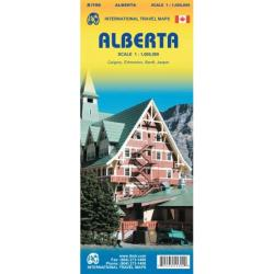 Alberta Travel Map by International Travel Maps