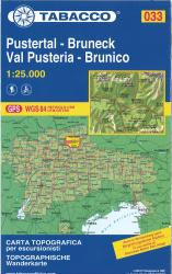 Brunico e dintorni/Bruneck und Umgebung Topographic Hiking Map by Casa editrice Tabacco