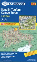 Campo Tures Topographic Hiking Map by Casa editrice Tabacco