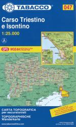 Carso Triestino e Isontino Topographic Hiking Map by Casa editrice Tabacco