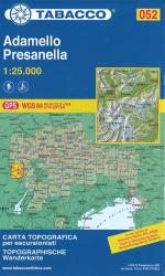 Adamello Pressanella Topographic Hiking Map by Casa editrice Tabacco