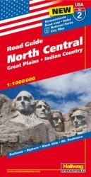 USA 2: North Central, Great Plains and Indian Country by Hallwag