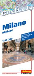 Milan, Italy City Flash Map by Hallwag