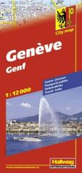 Geneva, Switzerland by Hallwag