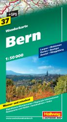 Bern, Switzerland Hiking Map by Hallwag