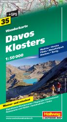 Davos-Klosters Hiking Map by Hallwag