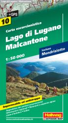 Lago Di Lugano and Malcantone Hiking Map by Hallwag