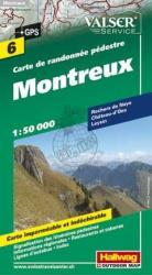 Montreux and Rochers De Naye Hiking Map by Hallwag