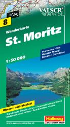 St. Moritz Hiking Map by Hallwag