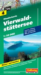 Vierwaldstatter See/Lake of Lucerne Hiking Map by Hallwag