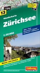 Zurichsee/Lake Zurich Hiking Map by Hallwag