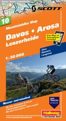 Davos, Arosa and Lenzerheide Mountainbike Map by Hallwag