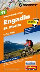 Engadin and St Moritz Mountainbike Map by Hallwag