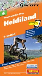 Heidiland Mountainbike Map by Hallwag