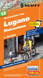 Lugano Mountainbike Map by Hallwag